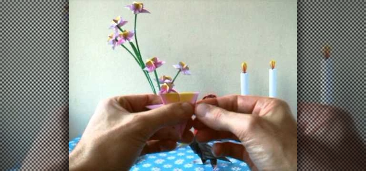 How To Fold A Mini Spring Origami Flower For Beginners WonderHowTo