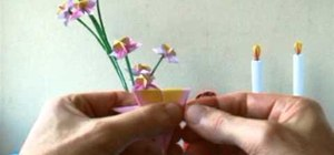 Fold a mini spring origami flower for beginners