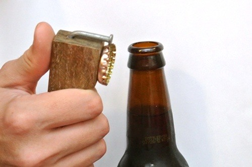 Make a Redneck Bottle Opener Out of a Nail & Scrap Wood