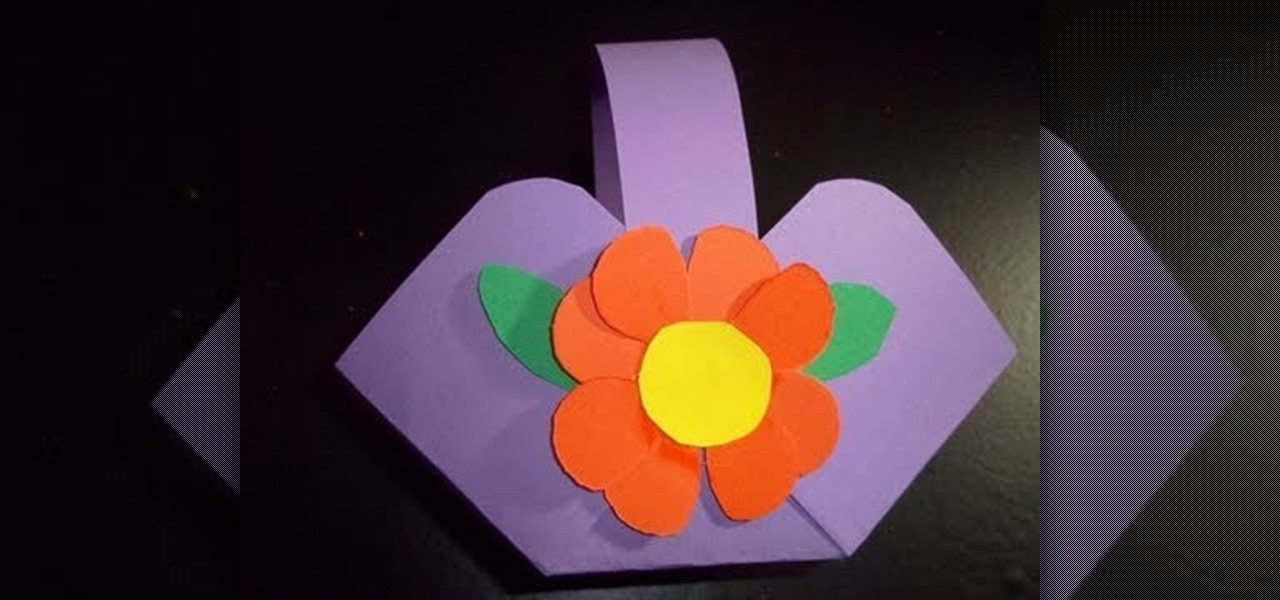 How to make a flower or candy basket out of construction paper how to make a flower or candy basket out of construction paper kids activities wonderhowto mightylinksfo Images