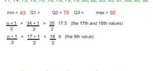 Make a quartile diagram (aka, box and whisker plot)