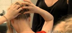 Create a sexy messy side bun with Julie Dickson