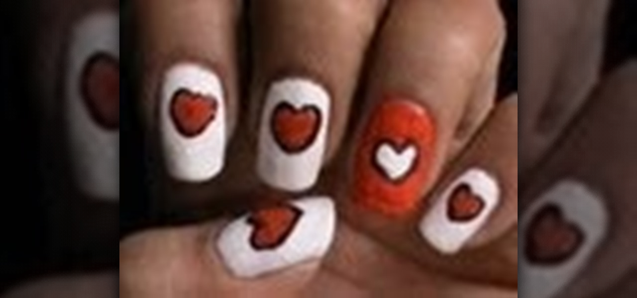 Create Velvet Hearts Nails