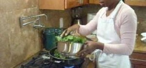 Make stir fried collard greens