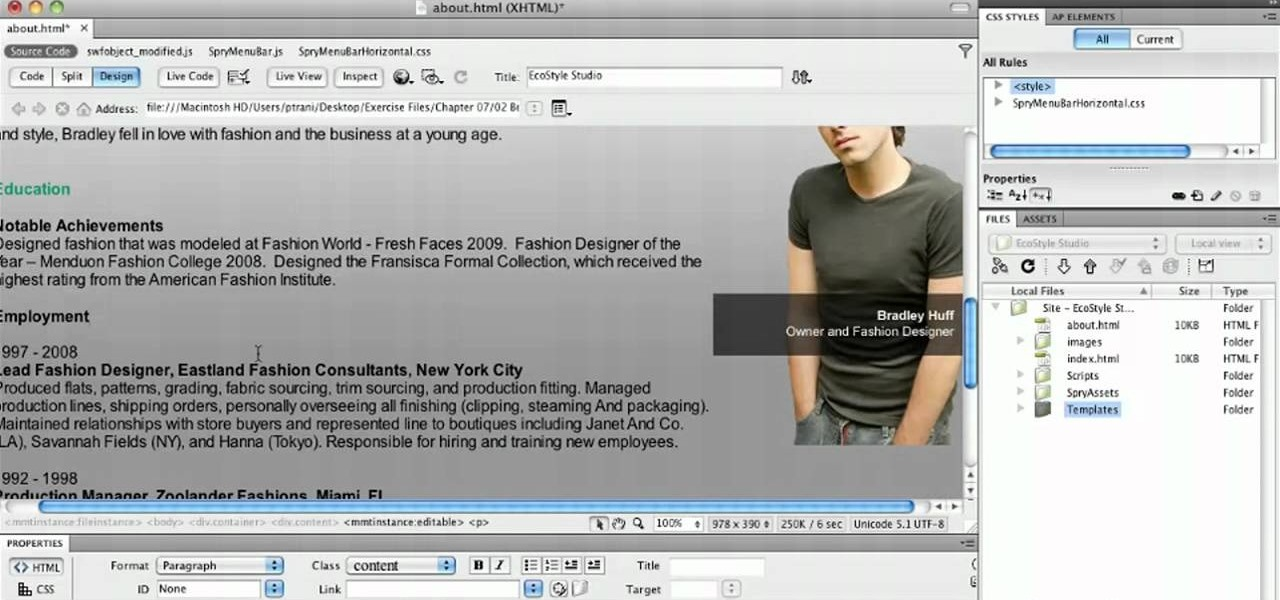 How to Create template-based web pages in Dreamweaver CS5 « Adobe ...