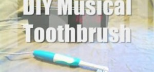 Make a musical electric toothbrush