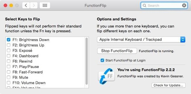 Technology Management Image: Customize Your Mac's Top Keys To Control Either Functions