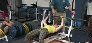 Use your feet and legs for bench pressing
