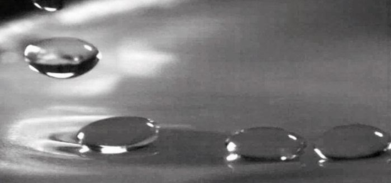 "Make Water Droplets ""Levitate"" on Water (Using Vibrations)"