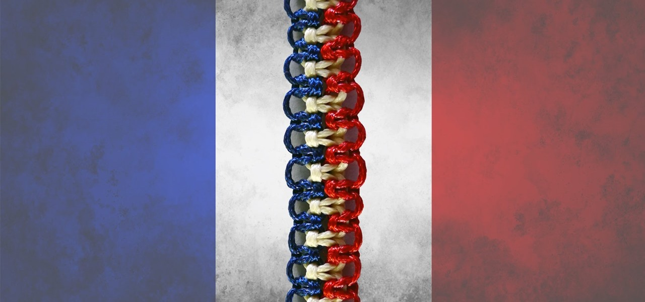 DIY Easy Bracelet - Flag of France