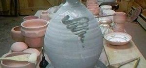Decorate a ceramic lamp base