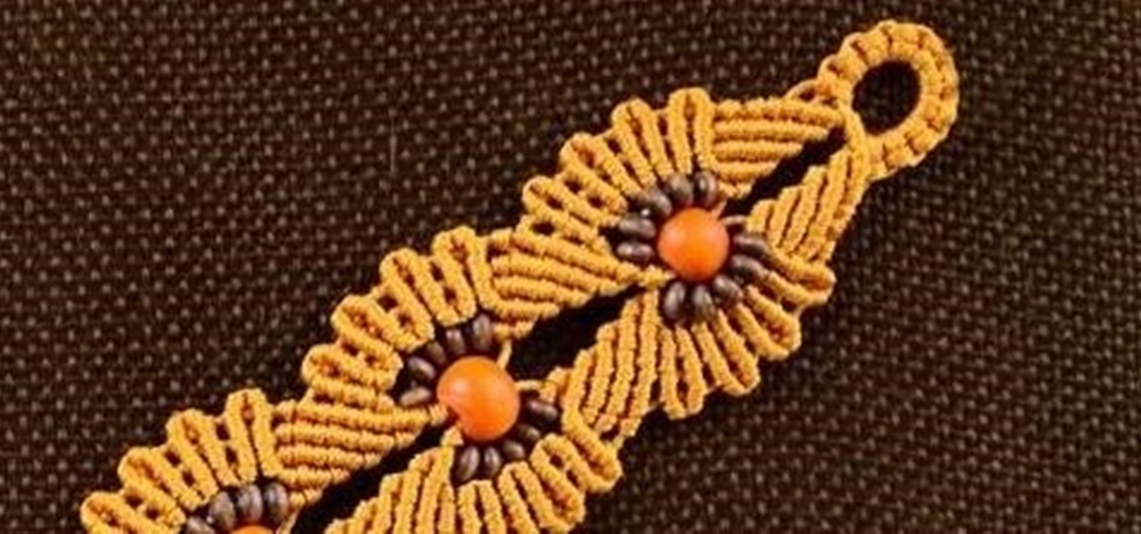 DIY Macrame Flower Bracelet with Beads