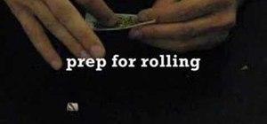 Roll a joint of marijuana