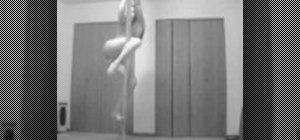 Do the verticle pole splits for pole dancing