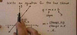 Find the equation of a line easily