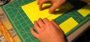 Make an envelope for a greeting card out of duct tape