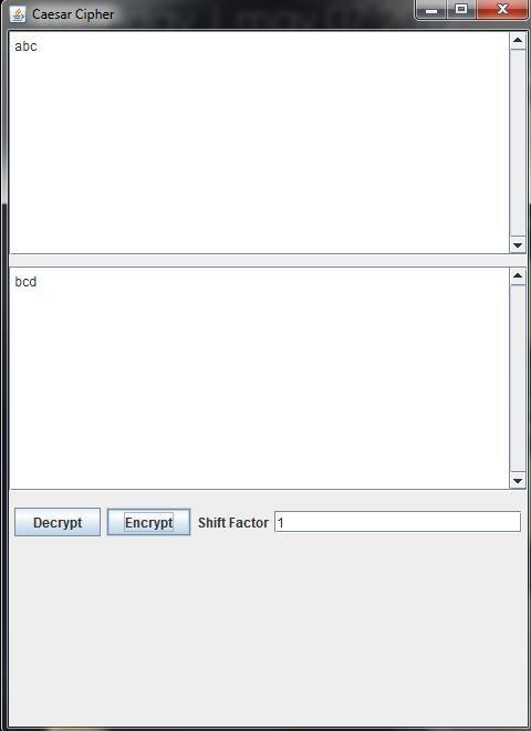java code for caesar cipher