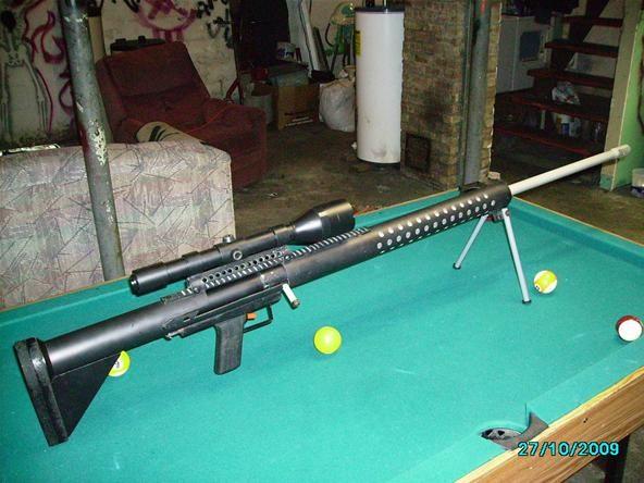 B.S.R. 75 bolt action spudgun potato sniper
