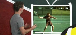 Create topspin on your forehand in tennis