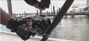 Replace fishing line on a reel for deep sea fishing