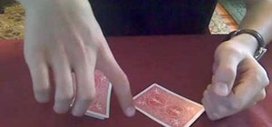Perform the three-card Monte throw card trick