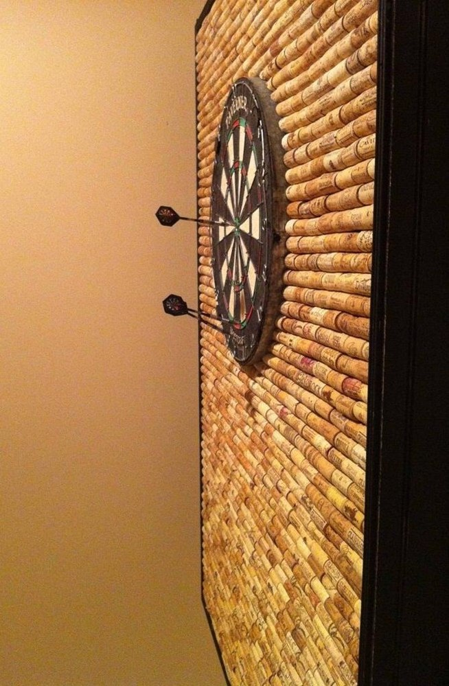 Protect Your Wall from Stray Darts with This DIY Dartboard Cabinet