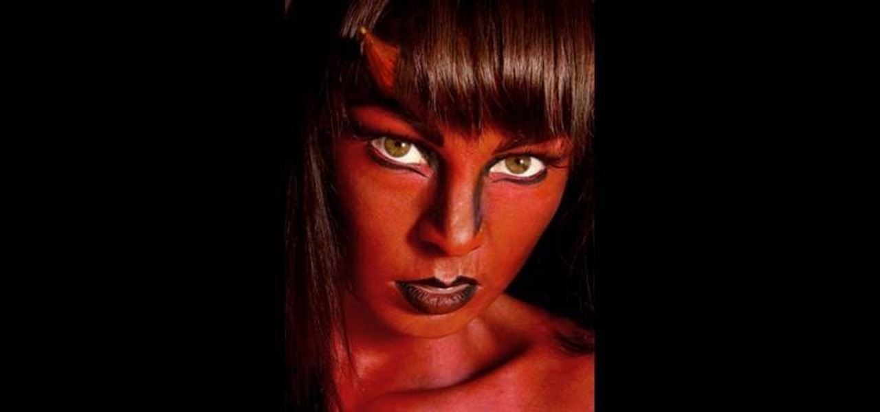 How to Create a fiery she devil makeup look for Halloween - How To Make Halloween Makeup