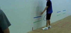 Do a proper backhand pinch shot in racqueball