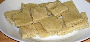 Make Indian badam burfi with Manjula