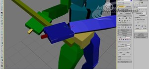 Model a biped with a two-handed sword in 3D Studio MAX