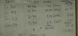 Calculate weighted atomic mass