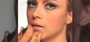 Apply a retro 60s Twiggy mod makeup look