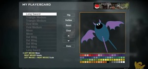 Create a custom Zubat Pokémon playercard emblem in Call of Duty: Black Ops