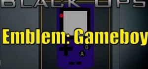 Make a Gameboy color as your logo for Call of Duty: Black Ops