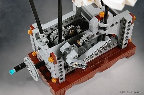 Flying Pegasus Operated with LEGO Gears & Cranks