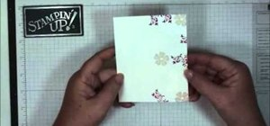Make an embossed thank you card