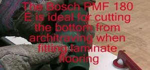 Use the Bosch PMF 180E multi-purpose saw and sander