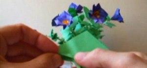 Origami a petunia