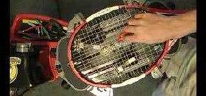 Install string savers on tennis strings
