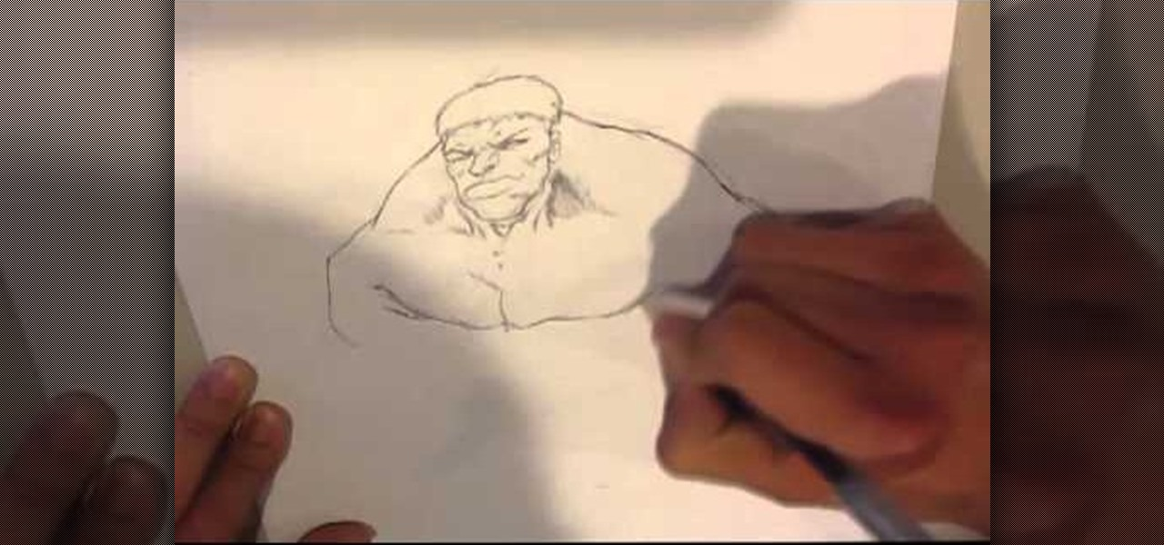 Draw the Hulk