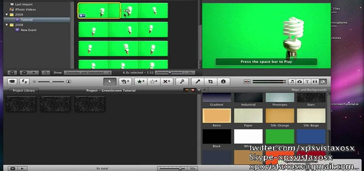 how to chroma key replace backgrounds in imovie 09 imovie