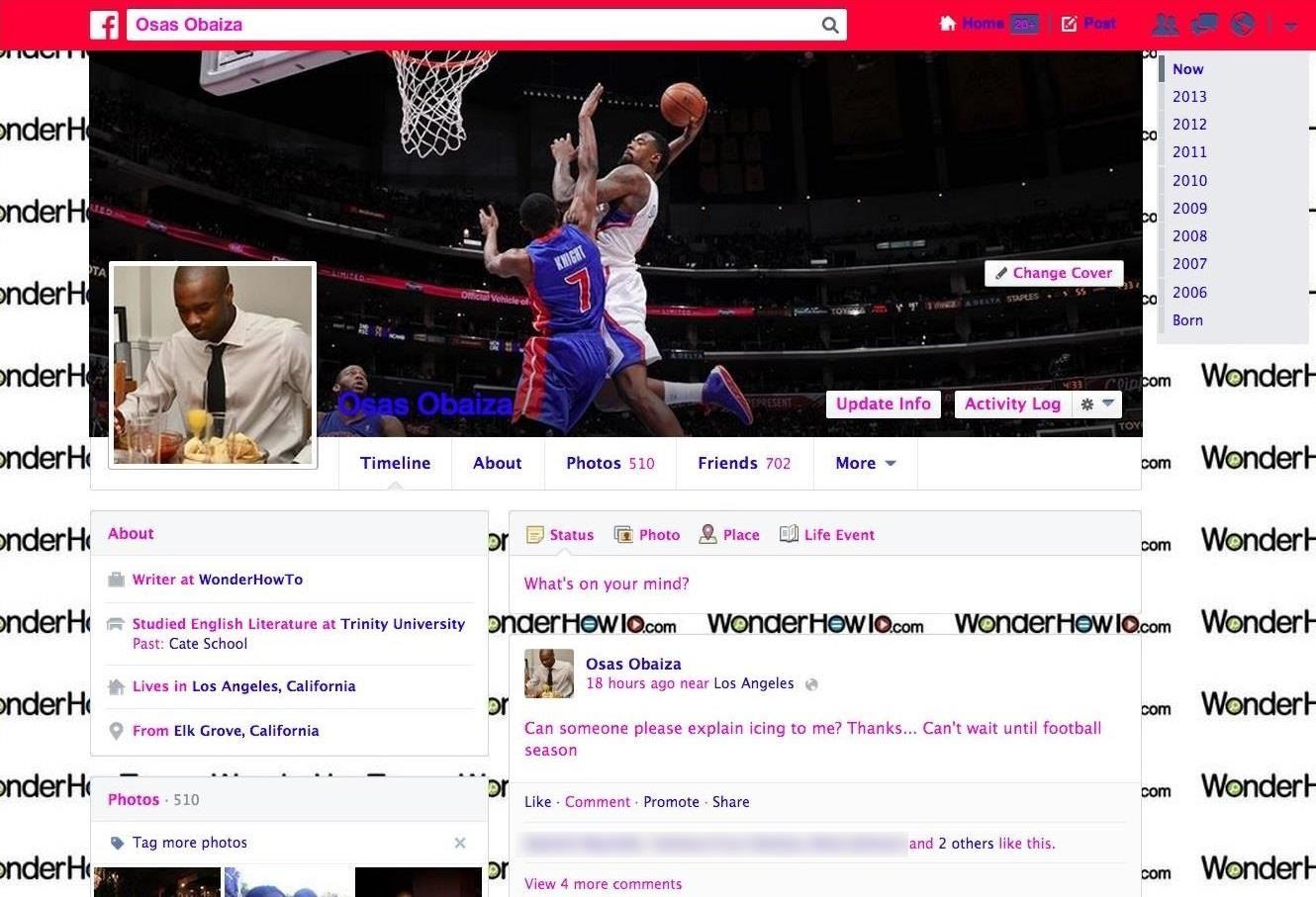 How to Change the Text Color & Default Blue Facebook Theme for a More Swaggy Profile