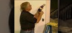Use a caulk gun for painting