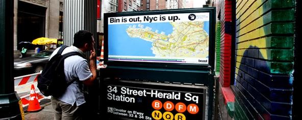 Street Artist Tricks Tourists with Custom Subway Maps « ink and