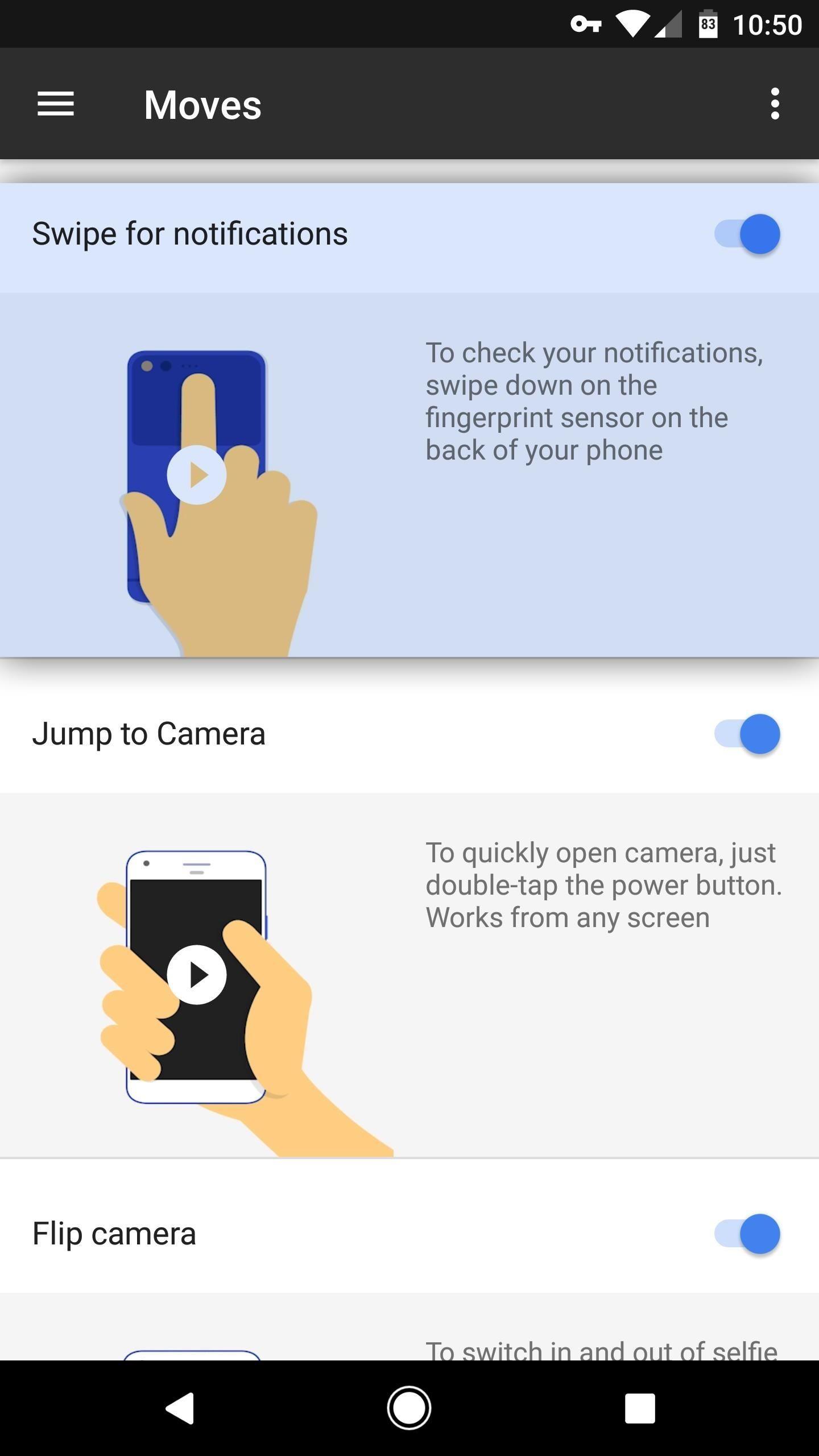 How to Turn on Google Pixel's Fingerprint Swipe Notification Gesture