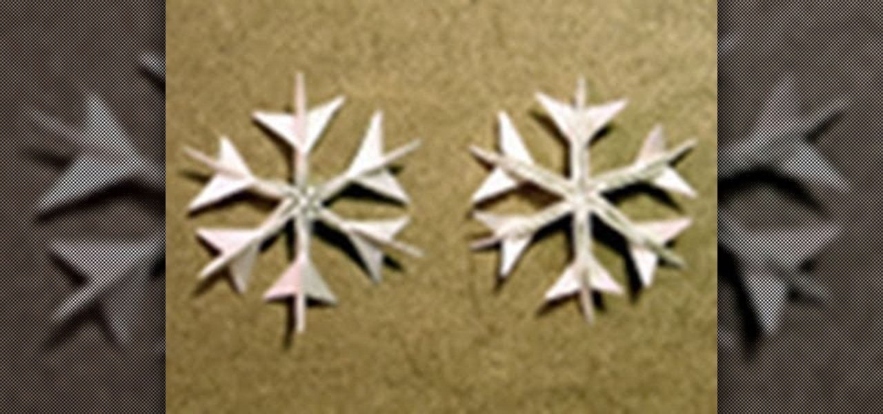 How To Fold Detailed Origami Snowflakes For Creative Christmas Decorations Ideas WonderHowTo