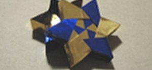 Origami a 6-pointed star box for the holidays