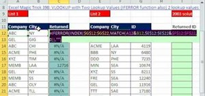 Run lookup queries with two values in Microsoft Excel