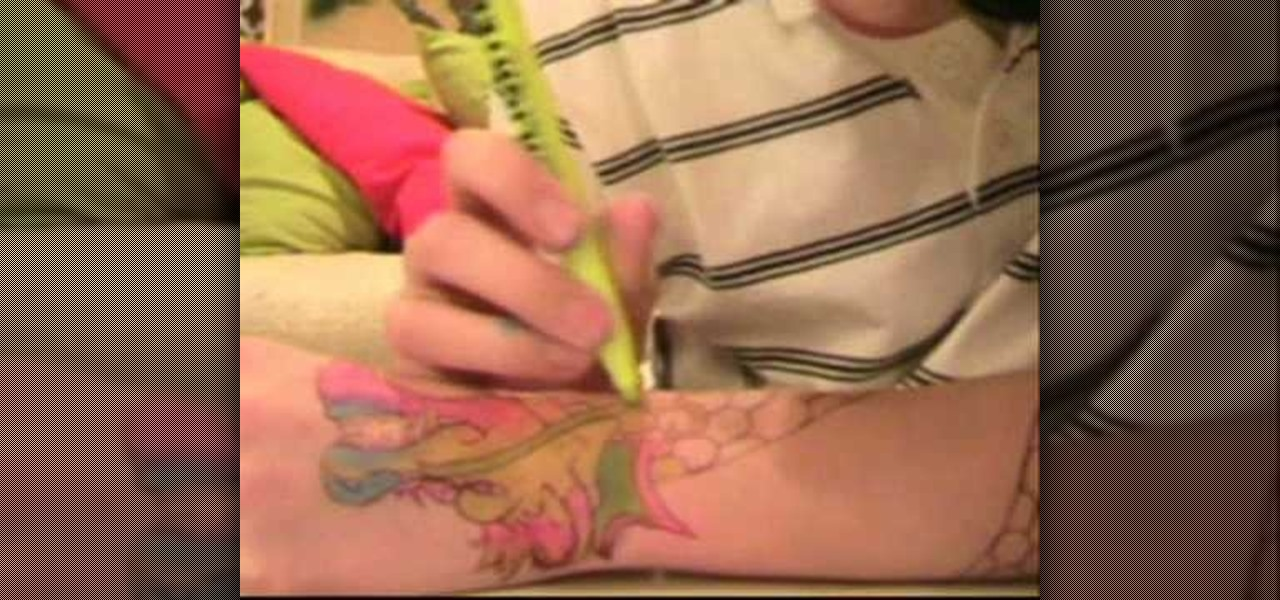 How to make a fake tattoo with a ballpoint pen tattoo for How to make fake skin for tattooing