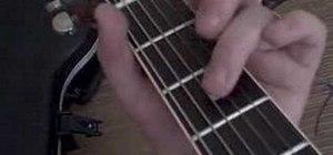 "Play ""Paradise City"" by Guns n Roses on guitar"